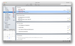 GTD App Review - TODO for Mac